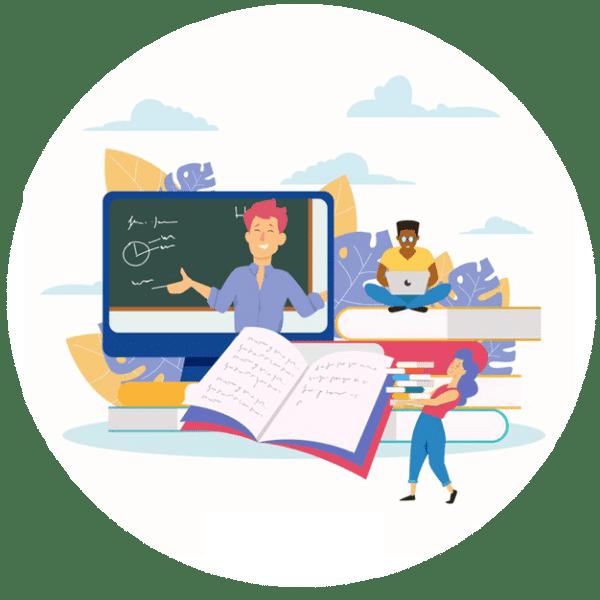 uzaktan ingilizce eğitimi veren öğretmenler